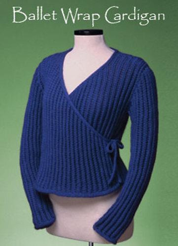 Ballet Wrap Cardigan 154 Knitting Pattern By Sue Mccain