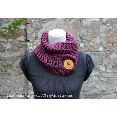 Lion Brand Wool Ease Thick Quick Fig Scarf Knitting Pattern By