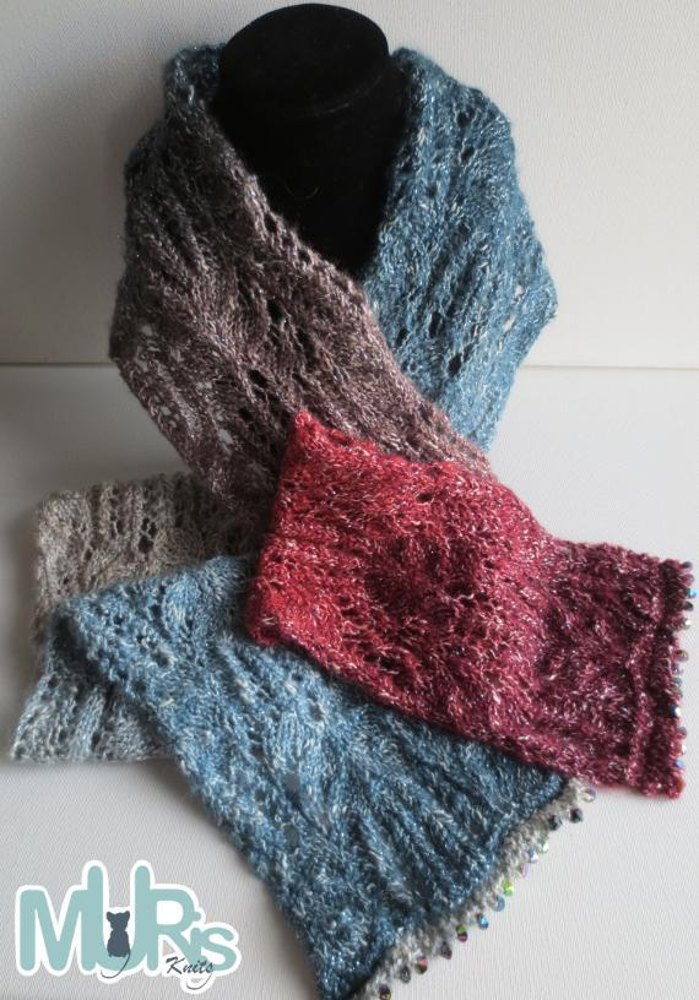 Frost Flower Scarf Knitting Pattern By Murisknits