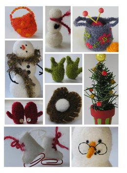Felted Snowman Accessories