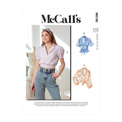 McCall's Misses' Tops M8198 - Sewing Pattern