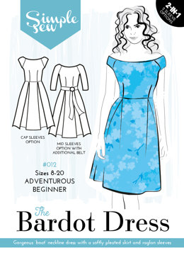 Simple Sew Patterns The Bardot Dress #012 - Sewing Pattern