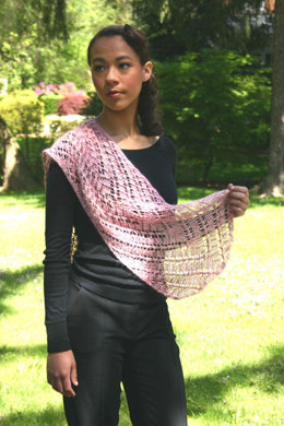 Rosebud Shawl in Artyarns Regal Silk - P98