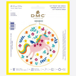 DMC Cross Stitch Kit - Unicorn - 25cmx25cm
