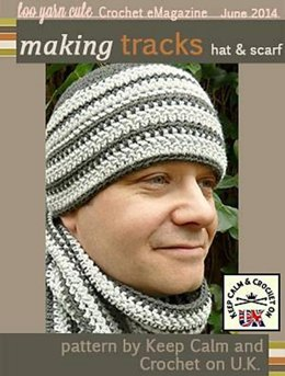 'Making Tracks' Men's Hat and Scarf Set