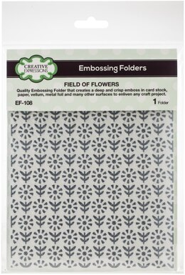 """Creative Expressions Embossing Folder 5.75""""X7.5"""" - Field Of Flowers"""