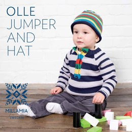 Olle Jumper and Hat in MillaMia Naturally Soft Merino
