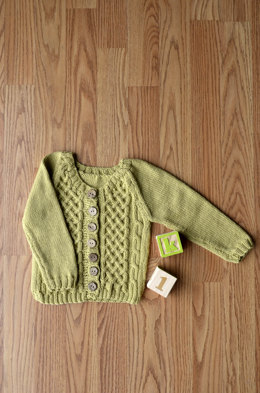 Picket Cardigan in Universal Yarn Little Bird - Downloadable PDF