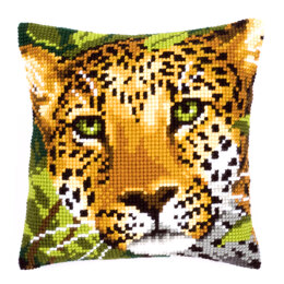Vervaco Leopard Face Cushion Front Chunky Cross Stitch Kit