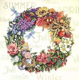 Dimensions Wreath of All Seasons Cross Stitch Kit