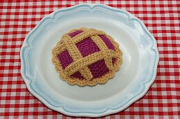 Crochet Pattern for an Individual Lattice Plum / Fruit Pie - Play Food