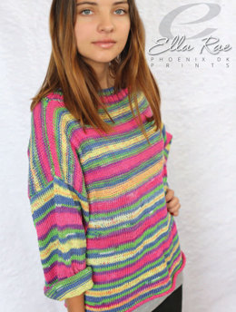 Wallis Sweater in Ella Rae Phoenix DK Prints - ER21-03 - Downloadable PDF