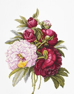 Luca-S Bouquet with Peonies Cross Stitch Kit