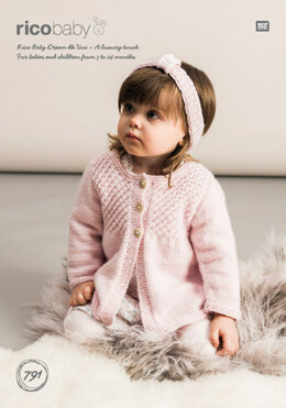 3d8c71423 Cardigans and Headband in Rico Baby Dream DK Uni - 791 - Downloadable PDF