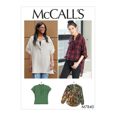 McCall's Misses'/Women's Tops M7840 - Sewing Pattern