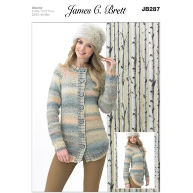 Jacket in James C Brett Marble Chunky - JB287