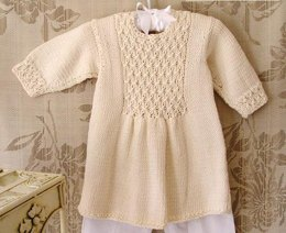 Baby girls dress with smocked front and back panel