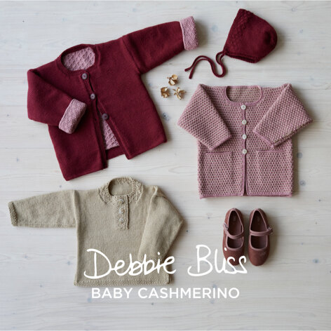 Rhubarb and Custard - Layette Knitting Pattern For Toddlers in Debbie Bliss Baby Cashmerino by Debbie Bliss
