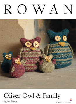 Oliver Owl & Family in Rowan Fine Tweed