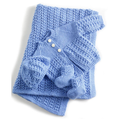 Lullaby Layette In Lion Brand Babysoft 90060ad Knitting Patterns