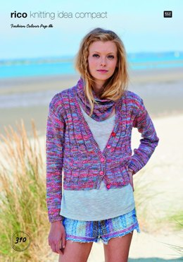 Cardigan and Snood in Rico Fashion Colour Pop DK - 310