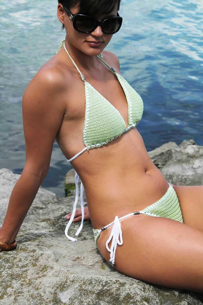 Woman Bikini Set Mint Crochet Pattern By Rita Samigulina