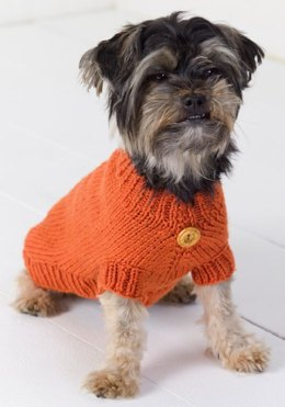 Dog Sweater in Red Heart Super Saver Economy Solids - WR2036
