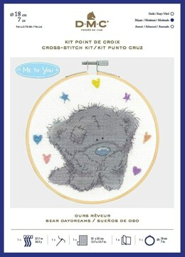 DMC Tatty Teddy Bear Daydreams Cross Stitch Kit - 17.8cm