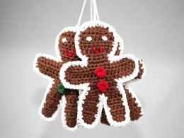 Gingerbread Man - Ornament - Amigurumi