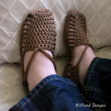 Easy Crocheted Sandals
