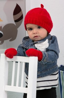 Cosy Hat and Mitts in Red Heart Baby - LW4315EN