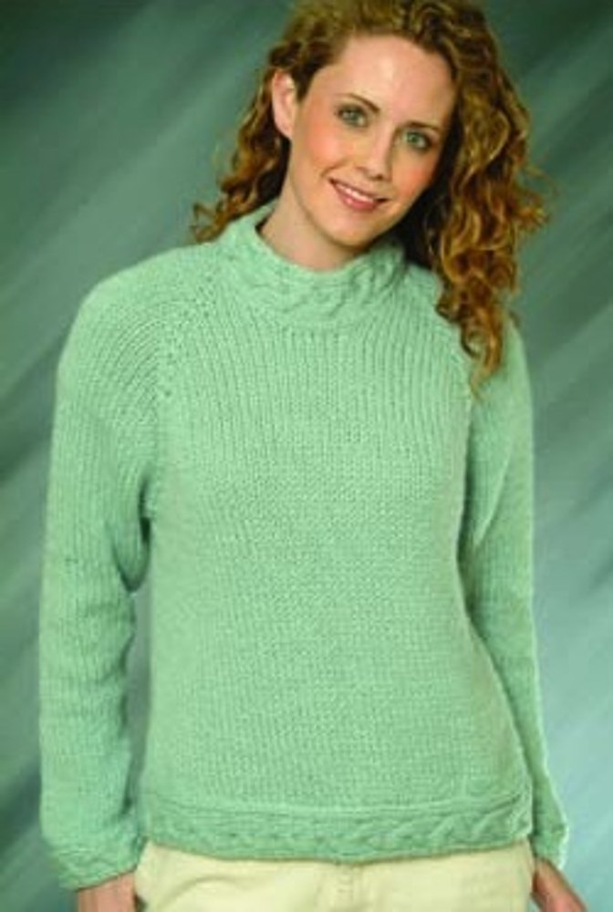 Top Down Ladies Pullover In Plymouth Yarn Baby Alpaca