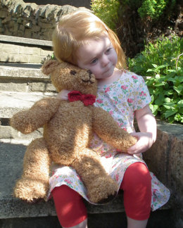 Teddy Bear in Robin Fleece Chunky - Downloadable PDF