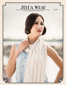 Zelda Wrap in Blue Sky Fibers Metalico - 2602 - Downloadable PDF