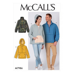 McCall's Misses' and Men's Jackets M7986 - Sewing Pattern