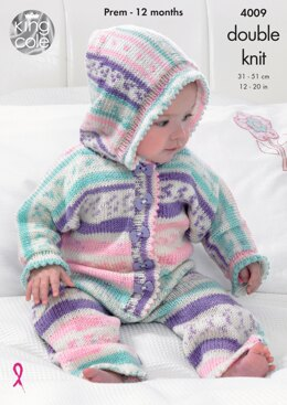 All-in-One, Jacket and Socks in King Cole DK - 4009