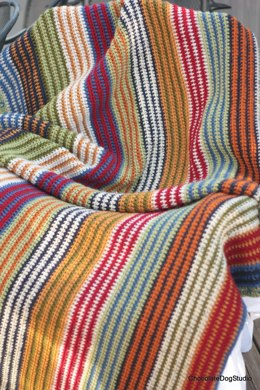 Easy Striped Afghan