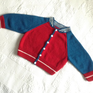 Kids Baseball Jacket In Debbie Bliss Baby Cashmerino Knitting