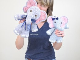 Josefina and Jeffery Chubby Little Elephants Crochet PDF Pattern