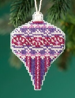 Mill Hill Beaded Holiday - Amethyst Pearl Beaded Ornament