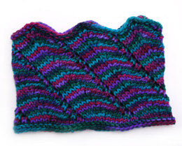 Rippled Neck Gaiter in Prism Yarns Symphony