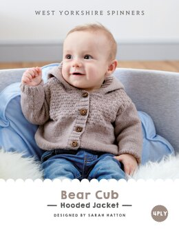 Bear Cub  Hooded Jacket in West Yorkshire Spinners Bo Peep 4 Ply - DBP0015 - Downloadable PDF