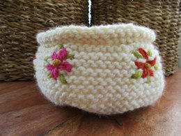 Embroidered Container