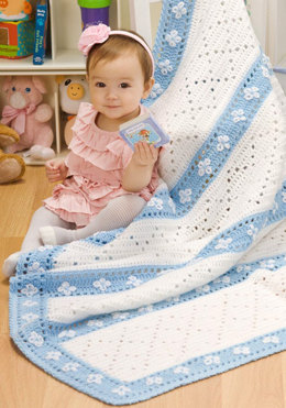 Lazy Daisy Blanket in Red Heart Soft Baby Solids - LW2538 - Downloadable PDF