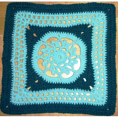 "Picots and Lace - 12"" square"