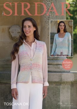 Cardigan and Waistcoat in Sirdar Toscana DK - 7976 - Downloadable PDF