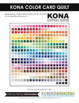 Robert Kaufman Kona Color Card Quilt - Downloadable PDF