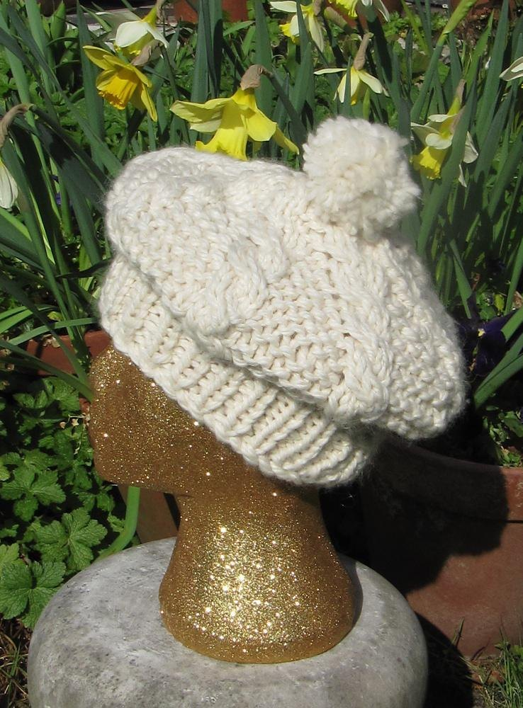 Superfast Cable Stitch Tam O Shanter Hat Knitting pattern by ... c0ddc53b12d