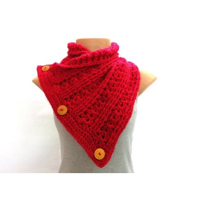 Ribbed buttoned scarf