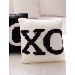 With a Kiss' Pillows in Bernat Super Value